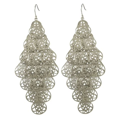 drop chandelier earrings chandelier silver earrings 28 images sterling silver