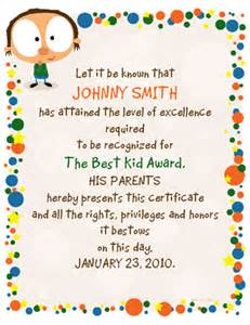best kid award certificate congratulations printable card american greetings