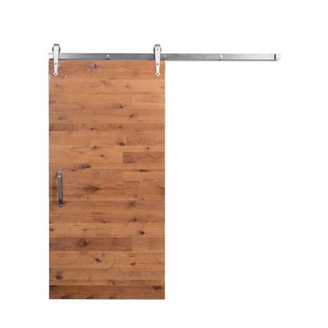 Rustica Hardware 42 In X 84 In Reclaimed Clear Wood Barn Barn Door Track Home Depot