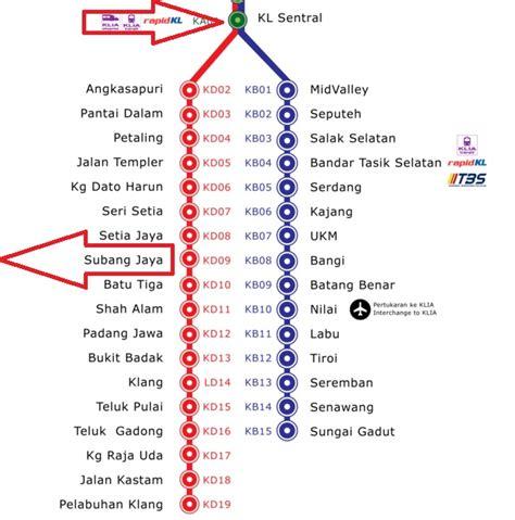 Ktm To Kl Kl Sentral From Kl Sentral To Subang Airport Skypark