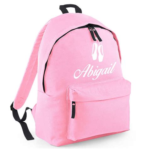 personalised name rucksack all colours by pink pineapple