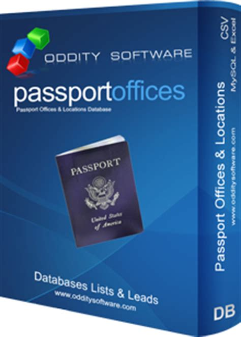 Passport Office Hours by Passport Locations And Services Database