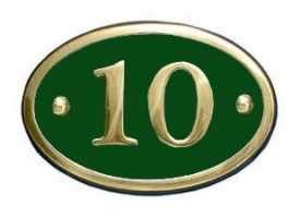buy house numbers online buy house number plates online at inbrass co uk
