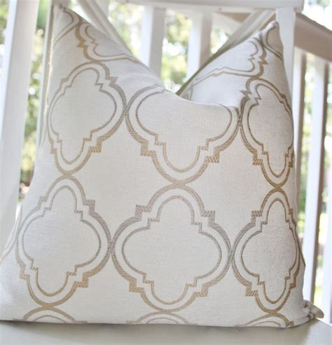 Etsy Designer Pillows by Decorative Pillow Ivory Gold Silver Grey Moroccan Designer