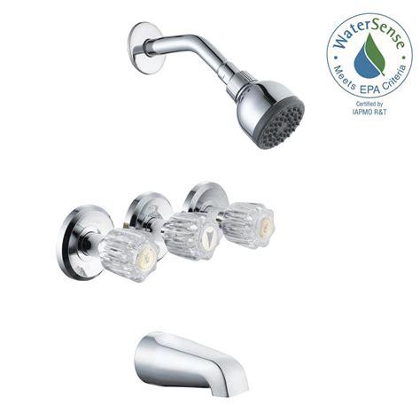 bathtub and shower faucet glacier bay aragon 3 handle 1 spray tub and shower faucet