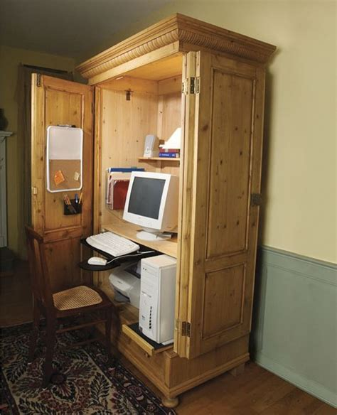 armoire workstation transform your armoire into a cpu workstation home tvs and old tv