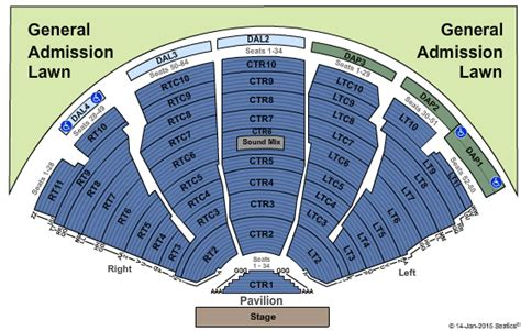 hitheater seating chart pdf dte energy theatre clarkston mi seating chart