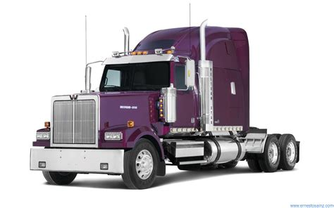 imagenes kenworth blanco camion western star morado