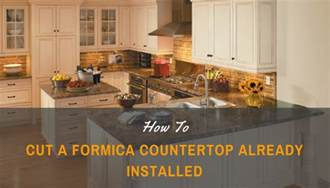 how to cut formica countertop already installed family