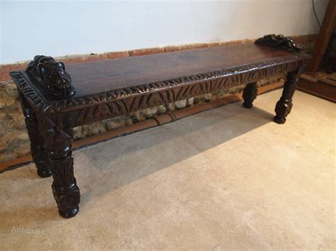 oak pew bench bench settle pew window seat victorian oak c1880