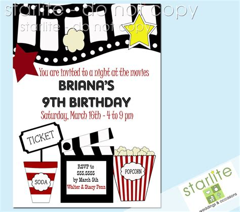 Printable Birthday Invitations Movie Theme Free | 40th birthday ideas birthday party invitation templates