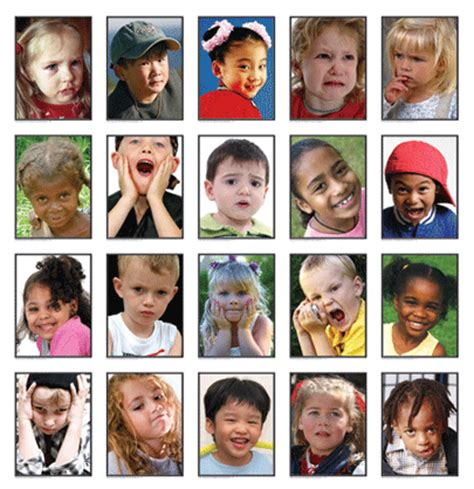 kids emotion faces found on missiekrissie blogspot it descriptive faces a resource for writers the importance