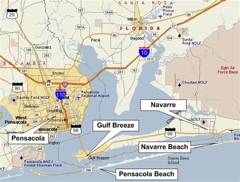 beach houses in pensacola fl pensacola map florida maps