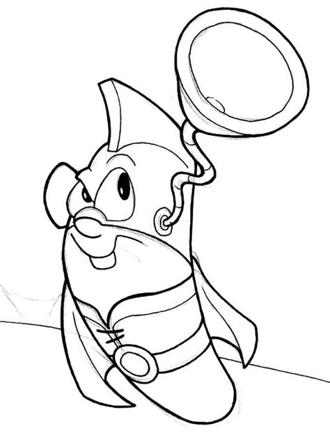 larryboy pages coloring pages