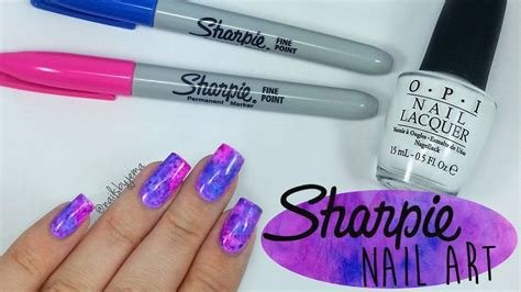 Permanent Marker Nail Designs