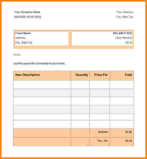 8 free download invoice template pdf short paid invoice