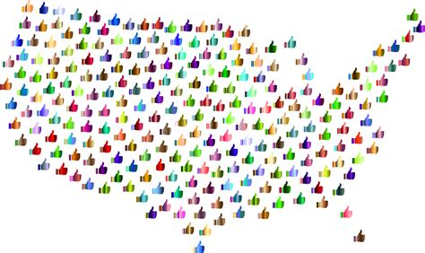 united states map up clipart prismatic thumbs up united states map 4