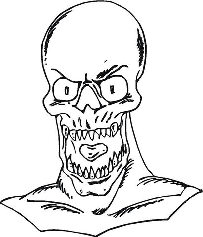 undead coloring page supercoloring com