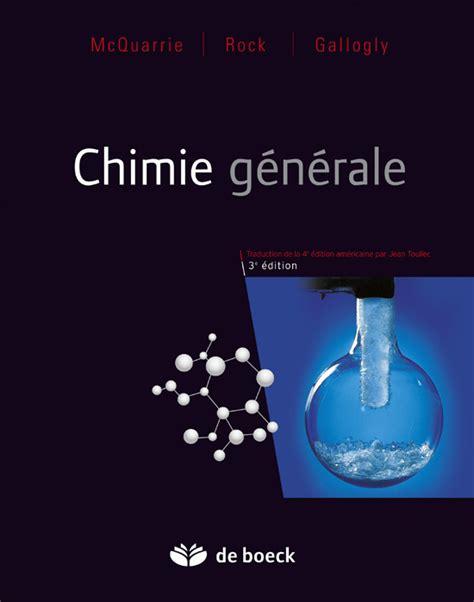 Chimie G 233 N 233 Rale De Boeck Sup 233 Rieur