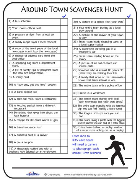 scavenger hunt template free printable scavenger hunt previous printable next
