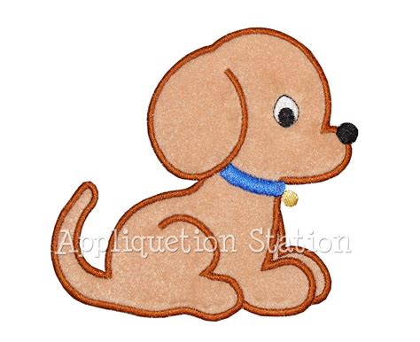 embroidery design dog puppy dog baby applique machine embroidery design boy pet