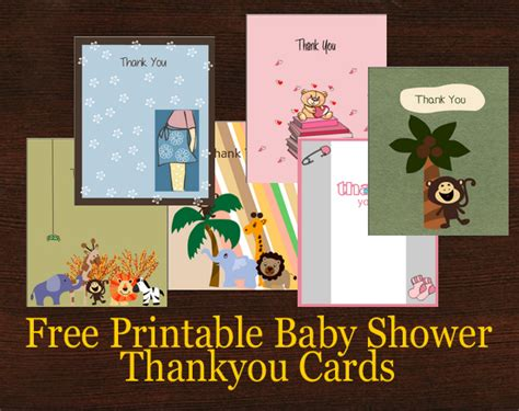 Free Printable Thank You Cards For Baby Shower Gifts - 45 free printable baby shower thank you cards