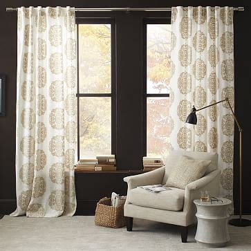 West Elm Medallion Shower Curtain Decor Window Curtains Drapes West Elm