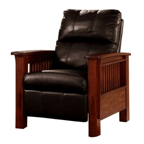 mission leather recliner living room furniture mission furniture craftsman
