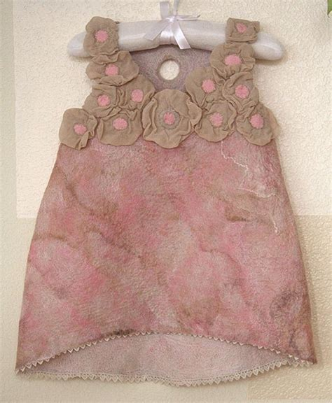 pattern for felt dress nuno felting tutorial pink felted flower dress baby girl