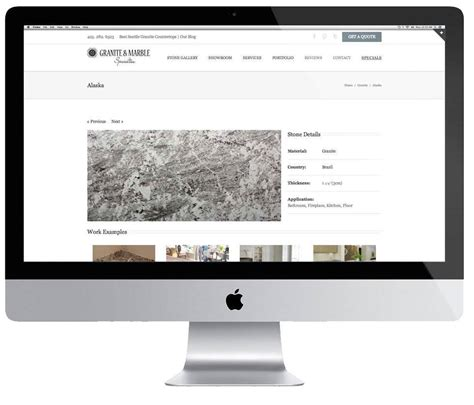 home improvement web design granite marble specialties
