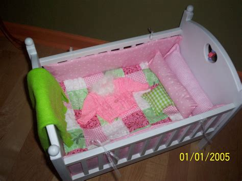 baby doll bed set pink quilt bitty baby doll crib bedding set by kmblarney