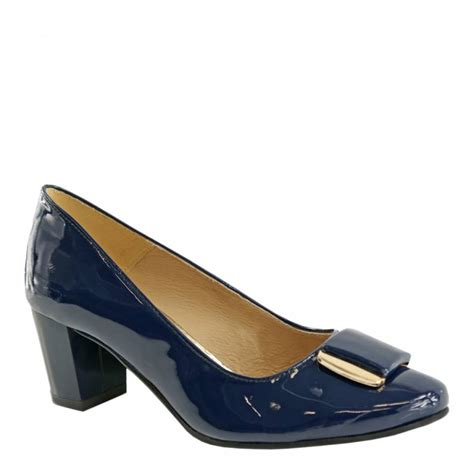 Patent Pumps navy blue leather patent pumps brandalley