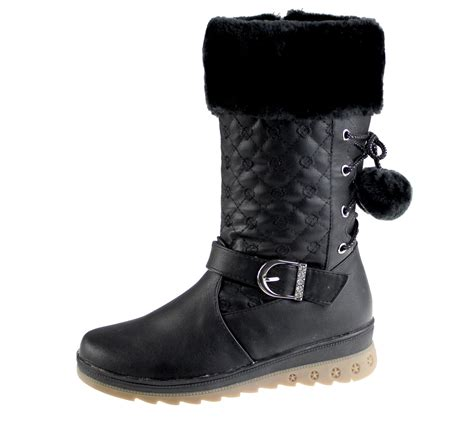 winter school shoes warm lined boots quilted winter warm high