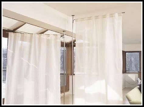 Curtain Room Dividers Diy Curtains Home Decorating Curtain Room Dividers Diy