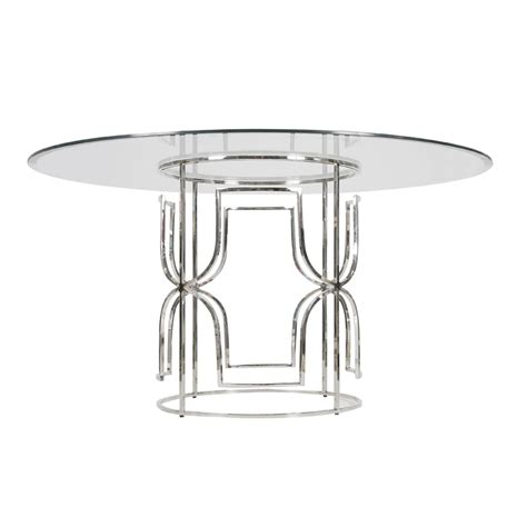 48 inch glass top dining table worlds away nickel plated dining table with 48
