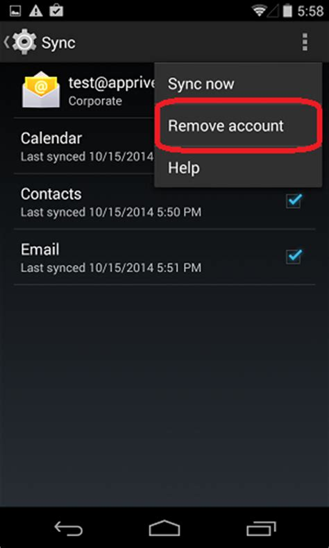 how to remove a account from android how to remove an email account from most android devices