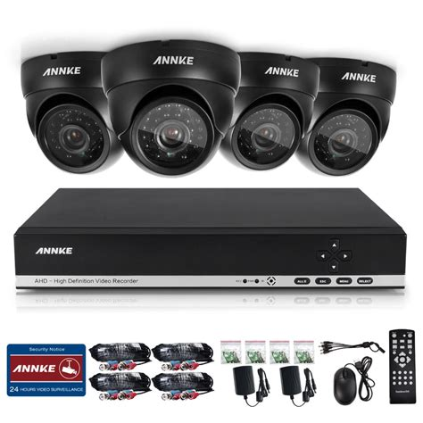 1 Set Cctv Outdoor annke hd 4ch cctv system set 720p dvr 4pcs 1200tvl ir