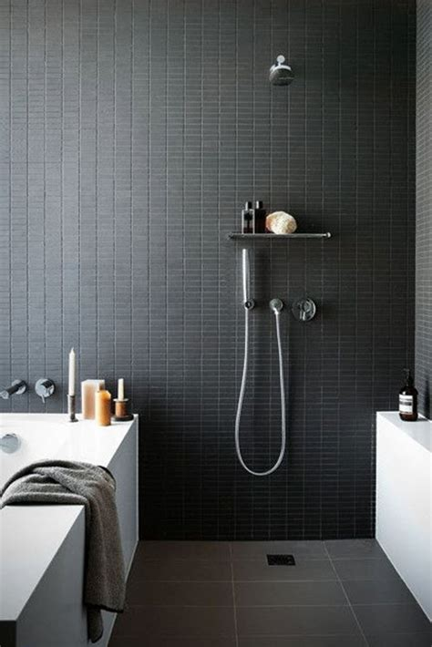 dark grey tile bathroom 40 dark gray bathroom tile ideas and pictures
