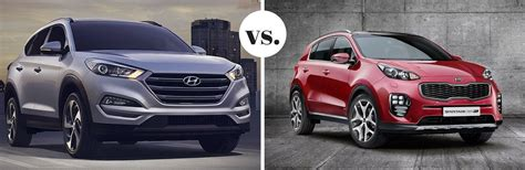 Who Makes Hyundai And Kia 2017 Hyundai Tucson Vs 2017 Kia Sportage