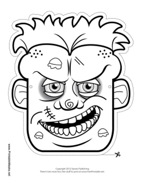 free printable zombie mask pin rhino coloring template pictures this is your