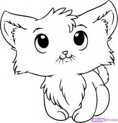Galerry cartoon kitten coloring pages