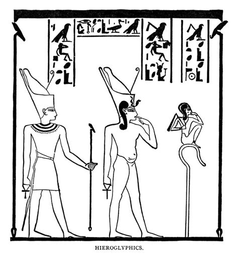 coloring pages for egyptian hieroglyphs printable hyroglyphics new calendar template site