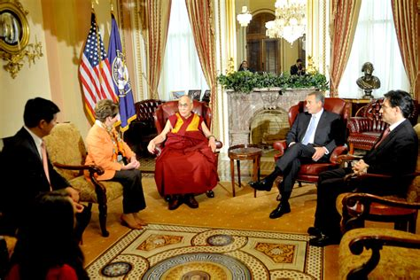 Speaker Of The House Office by His Holiness The Dalai Lama Spends The Day On Capitol Hill