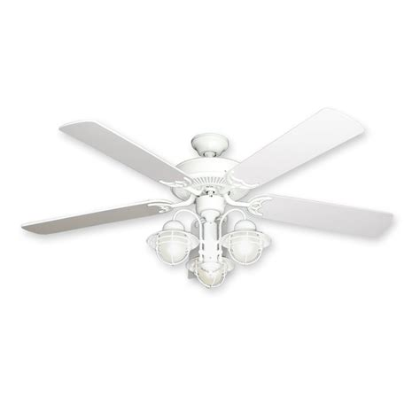white ceiling fans with light 52 quot nautical ceiling fan with light white finish