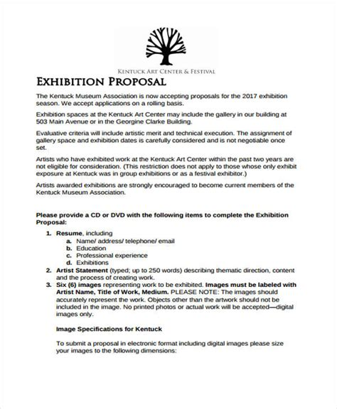Artwork Proposal Exle The Five Secrets You Will Never Artist Sponsorship Template