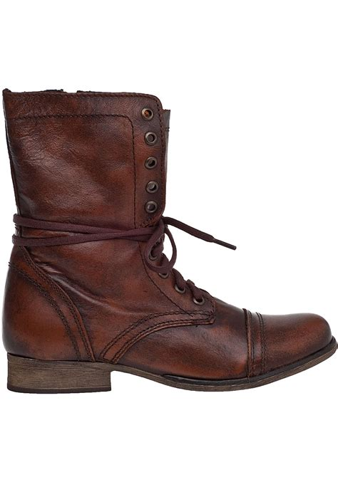 brown leather combat boots shoes mod