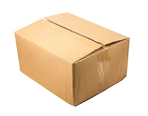 Open Sofa Di X2 half closed brown cardboard box for packing isolated on a