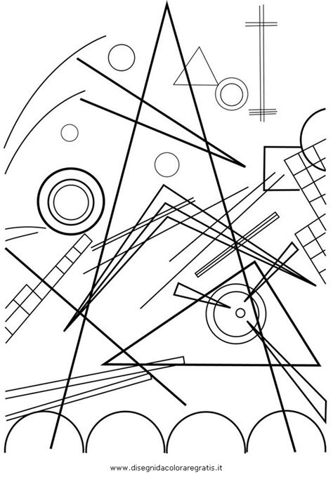 Kandinsky Coloring Pages free coloring pages of kandisky
