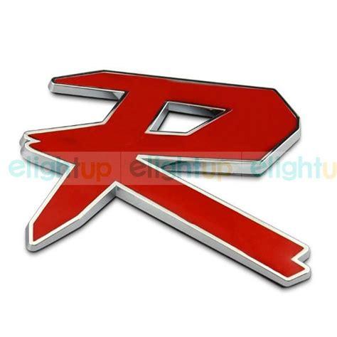 Emblem Type R buy universal vehicle chrome r logo racing type r 3m
