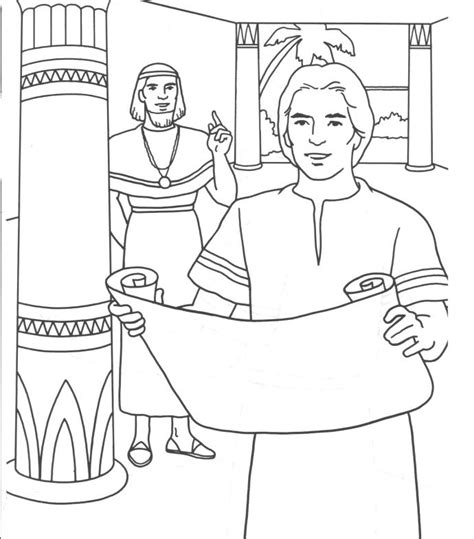 coloring page for joseph joseph in egypt coloring pages coloring home